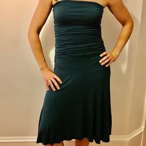 Express turquoise strapless dress